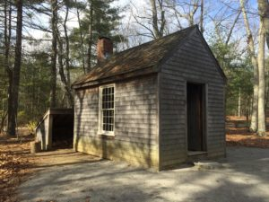 HDT could fit up to 20 people in his tiny house! This is a re-creation. The original house was taken down.